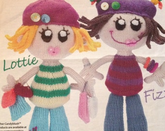 Dolly Mixtures FIZZ & LOTTIE From Candyblush Toys Knitting Pattern