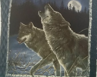 snow wolves quillow