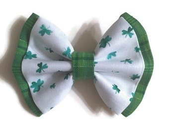 Shamrock & Plaid Two Layer Bow