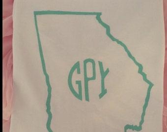 Monogrammed Georgia Long Sleeve Shirt