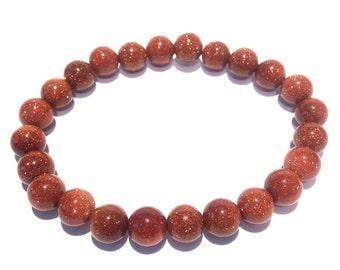 GOLDSTONE GEMSTONE Bracelet. Crystal Therapy ~ Reiki ~ Meditation