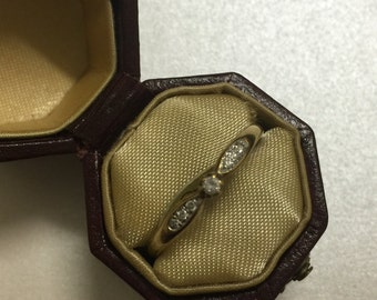 Seven Stone Diamond Engagement Vintage ring in 18K yellow gold with valuation
