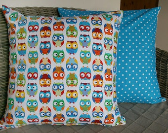 Rainbow Owl Cushion Cover