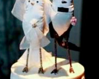 Wedding Cake Topper ~ Love Birds