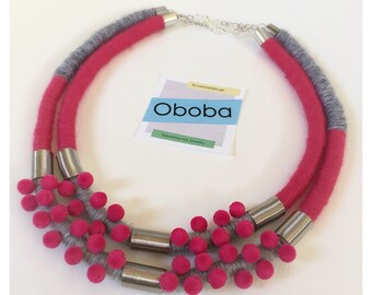 Pink Velvet Necklace