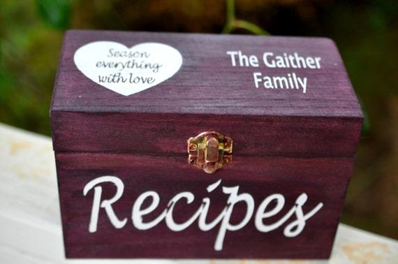 Wedding Gift Recipe Cards : ... Wedding Gift, Daughter in Law Gift, Son in Law Gift, Recipe Card Box