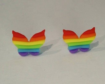 Rainbow Butterfly in Cold Porcelain