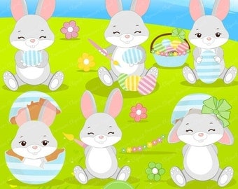 70% OFF SALE Easter bunny clipart, Easter clipart, Easter clip art, cute Easter clipart - CA332