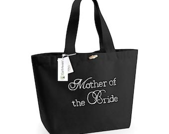 Mother of the Bride Tote Bag, Maid of Honour Tote Bag, Bridal Party Gift, Personalised Bride Bag, Perzonalised Wedding Bag, Crystal Bag