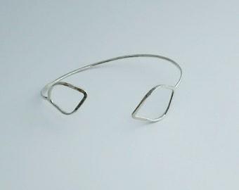 Reverse Leaf Cuff Bracelet