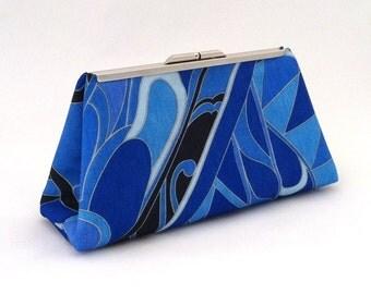 Royal Blue Clutch ~ Blue Handbag ~ Blue Retro Purse ~ Blue Wedding Purse ~ Royal Blue Handbag ~