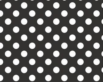 Medium dots black - Riley Blake cotton fabric