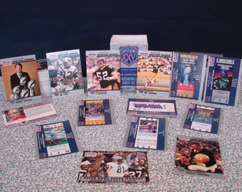 SUPERBOWL XXV, Limited Edition, Silver Anniversary Commemorative Card Set, 160 Superbowl Cards, Complete Pro Set, Official Card of the NFL