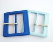 2 inch Blue belt buckle in 2 shades: light blue and royal blue, Unused square plastic buckles!!