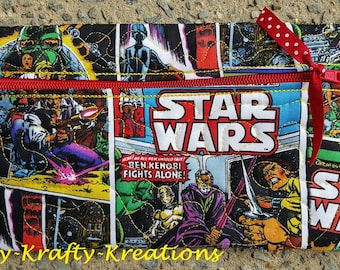 Quilted Star Wars Zipper Bag