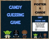 Star Wars Candy Guessing Game, Star Wars Baby Shower, Star Wars Candy Game, Star Wars Guessing Game, Candy Guessing Game, For Boy