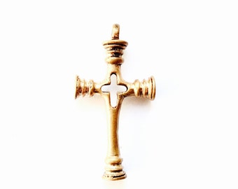 The cross of Telemark VIKING KRISTALL pendant bronze