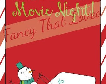 Instant Download | Movie Gift Card|  Movie Gift Card Holder| Teacher Gift| Teacher Appreciation Holder| Gift Card Holder