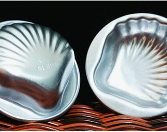 2 Sets (4 Pcs) Bath Bomb Molds Bath Fizzies Cake Chocolate Aluminum Seashell Or Daisy 60mm 70mm