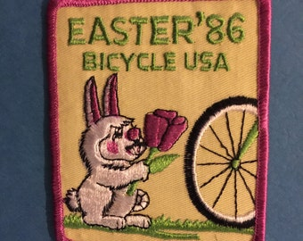 Easter 1986 Bunny Bicycle Patch