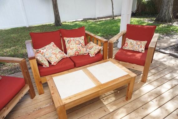 Custom, Cedar Wood Patio Furniture (entire set)