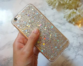 holographic glitter iphone 6 case, iphone 6s case ,iphone 6plus case, iphone 6s plus case, iphone 5 case