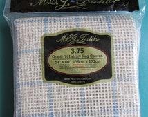 Graph n Latch Rug Canvas, 54X60,large mesh rug hooking canvas,needlework supplies,craft supplies, destash craft supplies, stitchery supplies
