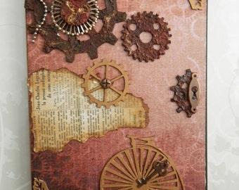 HANDMADE - Steampunk Book Notebook