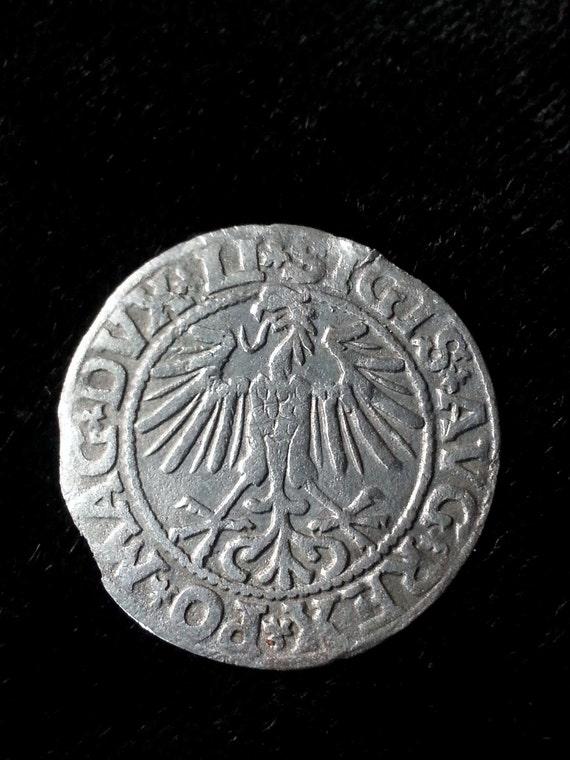 1549 medieval poland sigismund silver hammered coin pendant
