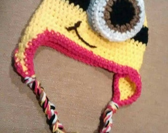 Minion Ear Flap Beanies from newboom thru adult