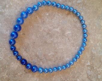 Vintage Blue ombre pop beads