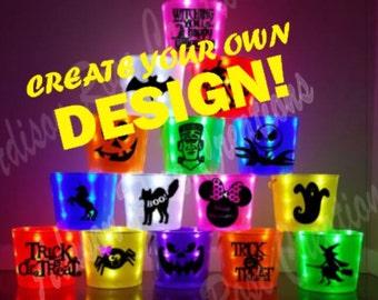 Light Up Halloween Bucket CREATE your own DESIGN