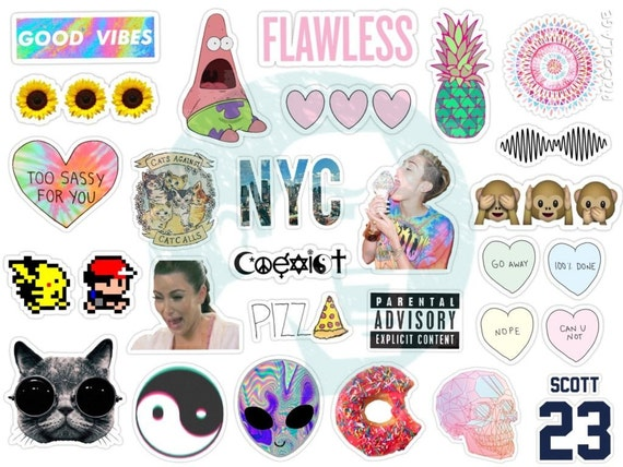 Tumblr Stickers Set Of By BestStickersClub