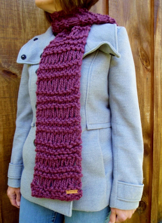 Knitting Pattern Infinity Scarf Straight Needles : Knitting Pattern Infinity Scarf Cowl THE BERLIN Chunky Outerwear from TheAutu...