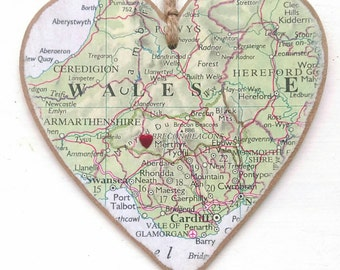 Customised Map heart