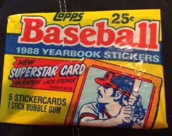 1988 TOPPS Baseball Lot Of 44 Yearbook Sticker Pcksa 5 Stickers In Every Pack