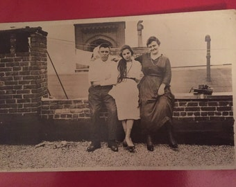 Authentic Photo Post Card - Early 1900s - Mother, Father, and beautiful Daughter
