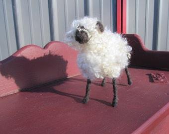 Needle Felted Primitive Sheep, needle felted sheep, sheep, primitive