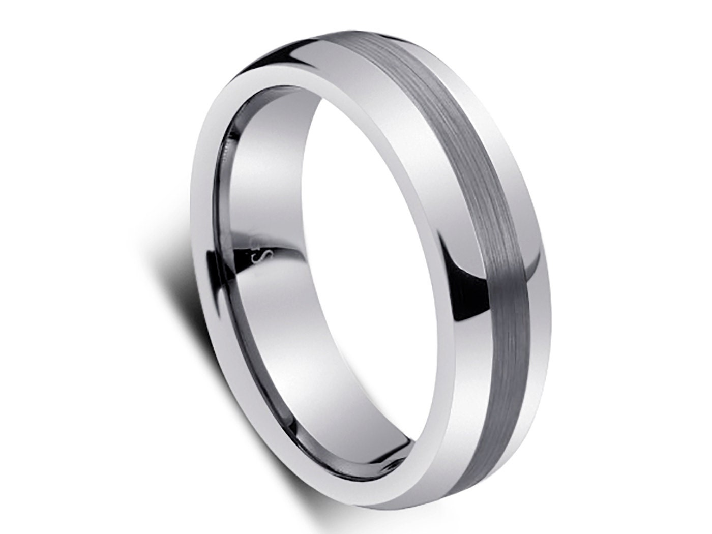 6 MM High Polish Tungsten Wedding Band Ring In Comfort Fit And