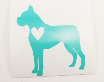 Boxer Decal - Boxer Dog Decal - Dog Lover Gift - Dog Love Decal - Boxer Love Decal - Dog Sticker - Vinyl Dog Car Decal - Laptop Dog Decal