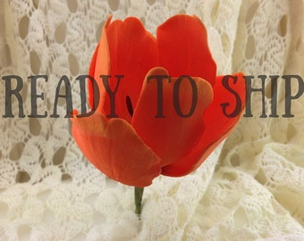 Tulip Sugar Flower READY TO SHIP