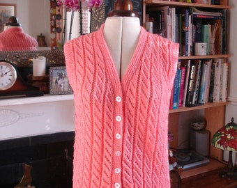vintage hand knitted waist coat