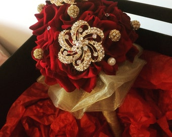 Velvet High quality artificial bridal bouquet