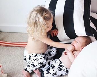 baby boy leggings boston terrier leggings hipster baby leggings toddler boy leggings black and white