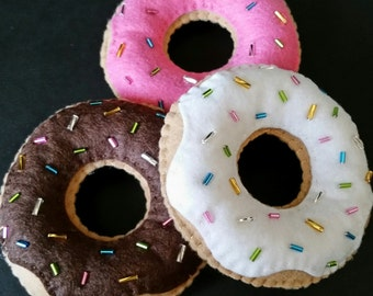 Felt Frosted Donuts For Pretend Play