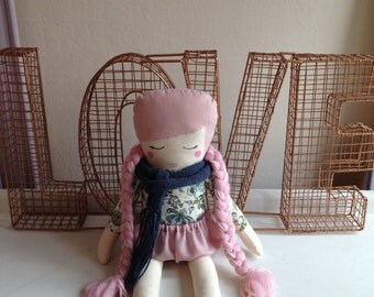 Girl cloth doll #7 by Kk and Boo