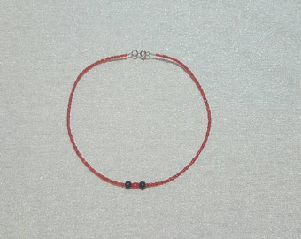 Red beaded choker