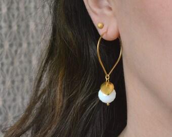 Sterling silver, Modern hoop earrings