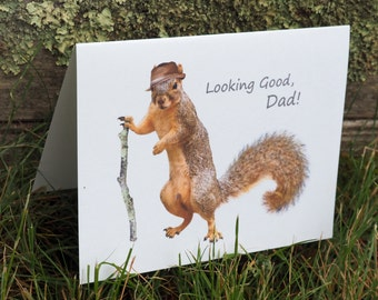 Squirrel Printable Father's Day Card