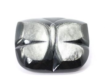 Silver Obsidian Butterfly